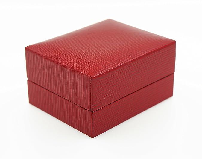 Estuche para 2 anillos de boda de alta calidad: para pedida de mano, bodas o para San Valentín, color rojo, modelo Box 5: Amazon.es: Joyería