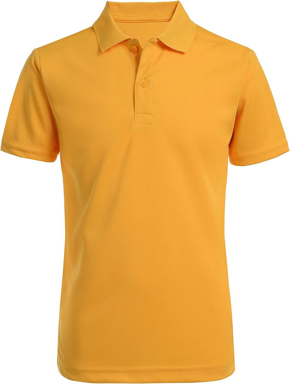 Nautica Boys' School Uniform Short Sleeve Performance Polo: Clothing