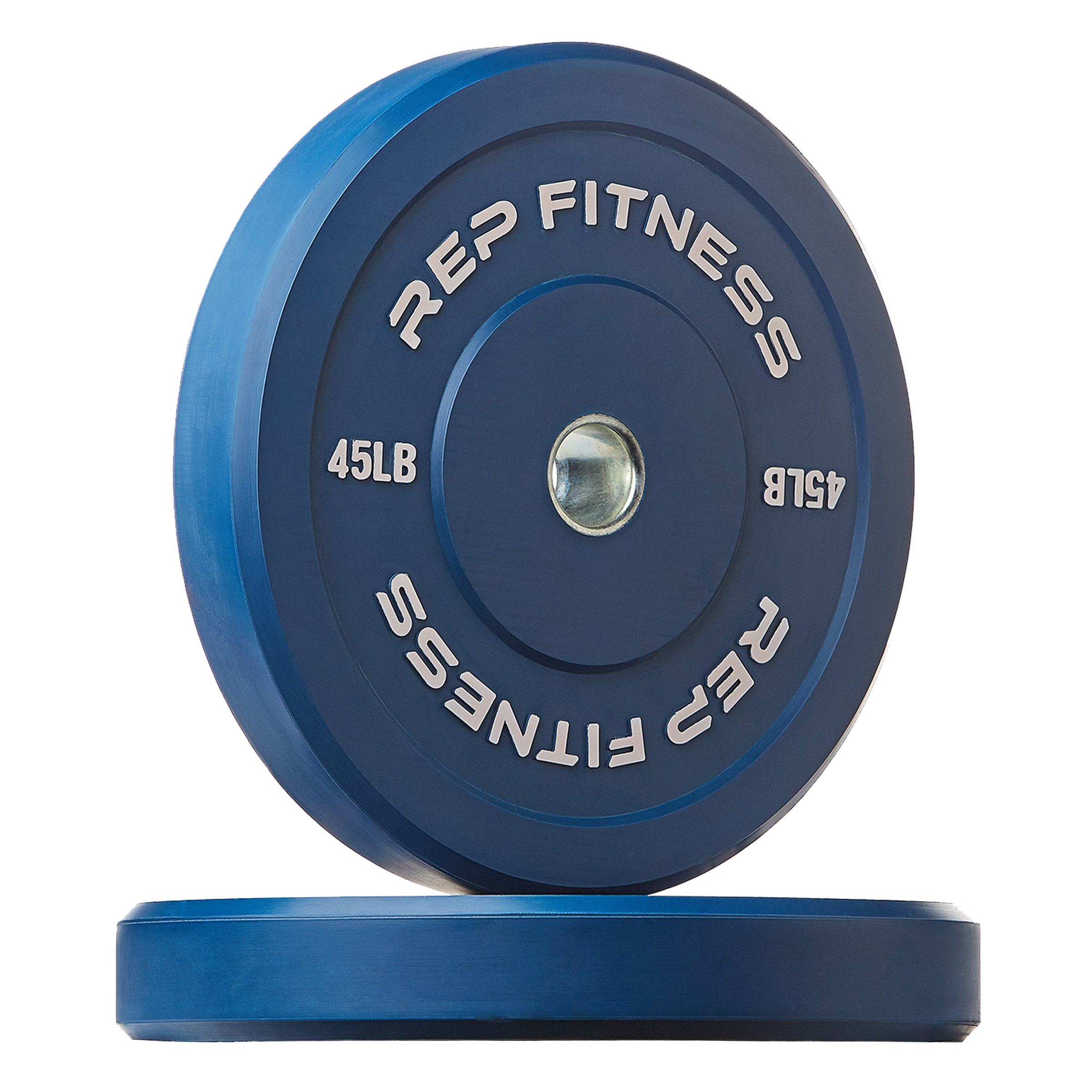 Rep Color Bumper Plates for Strength and Conditioning Workouts and Weightlifting, 45 lb Pair
