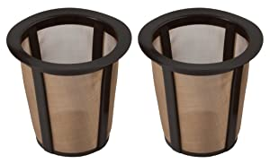 Gold Tone K-Cup Reusable Coffee Filter Baskets, 2 Pack.