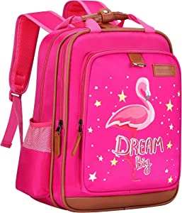 """Flamingo Backpack for Girls 15"""" 