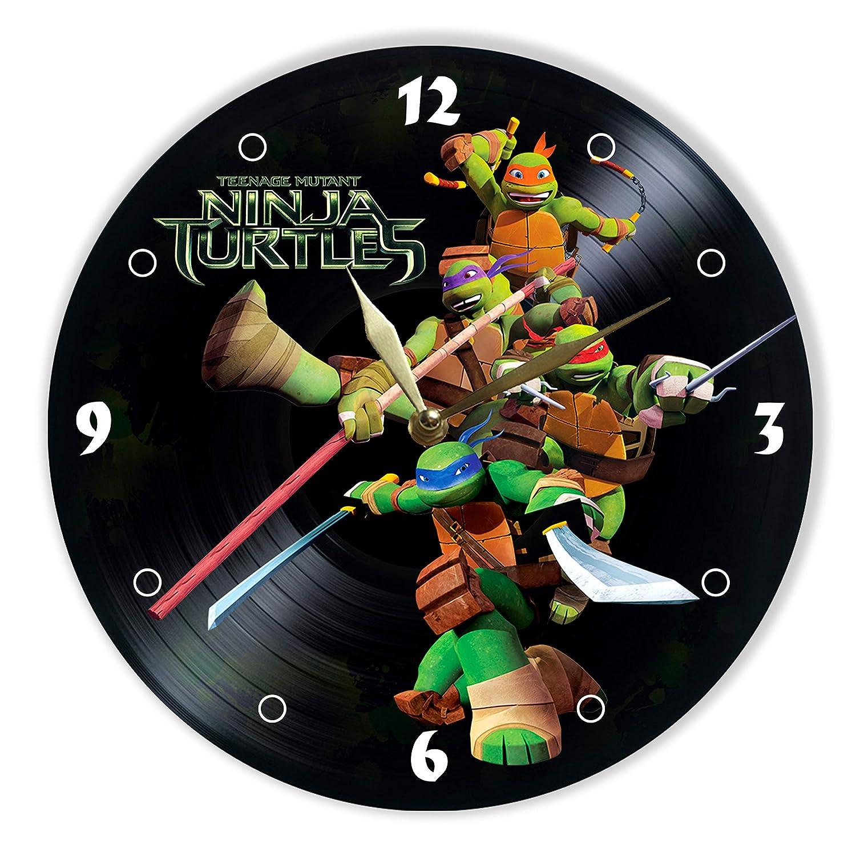 Teenage Mutant Ninja Turtles Reloj de Pared de Vinilo ...