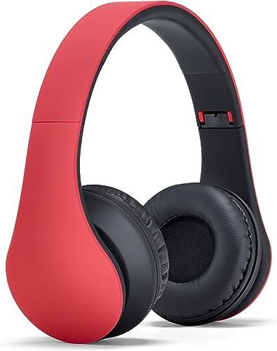 Status Audio HD One Headphones – Marathon Red Black . Lightweight On-Ear Noise Isolating Headset with High Definition Studio Sound.