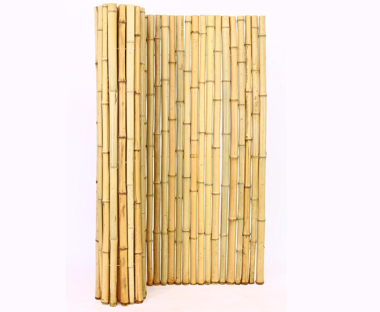 Bambusmatte Roll Zaun mit 150x200cm aus Moso Bambusrohren 3 5 bis