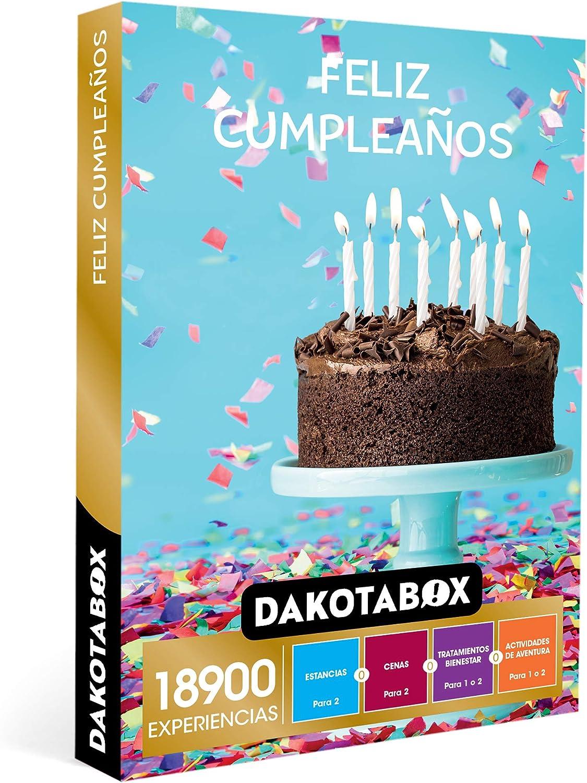 DAKOTABOX - Caja Regalo hombre mujer pareja idea de regalo - Feliz cumpleaños - 18900 experiencias como circuitos spa, masajes, cenas, kayak y rutas a caballo