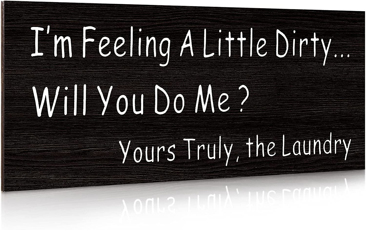 Jetec Laundry Wooden Sign I am Feeling a Little Dirty Laundry Sign Funny Laundry Room Signs Home Laundry Wall Decor Farmhouse Laundry Accessories Rustic Farmhouse Decor for The Home Sign