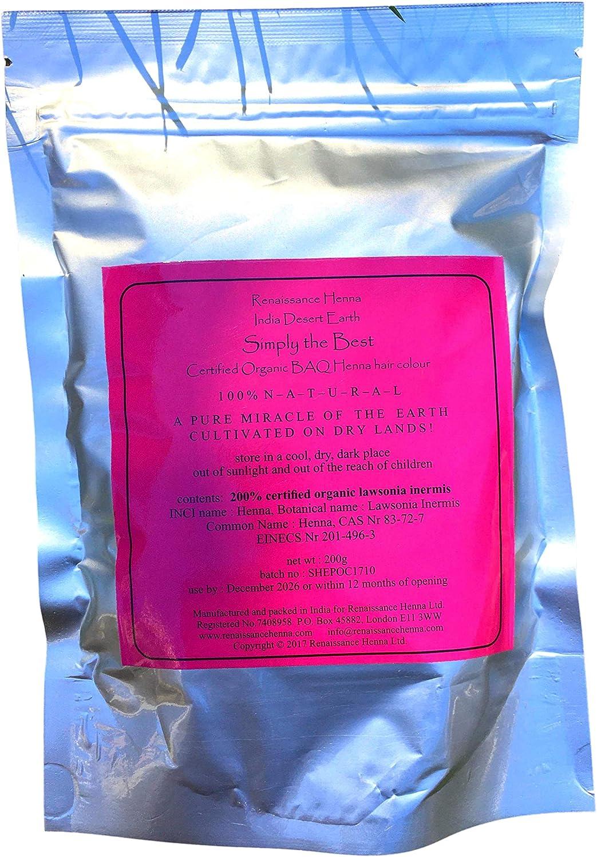 Tinte de pelo rojo de cobre permanente, 100 % natural, simplemente el mejor tinte orgánico para cabello de henna