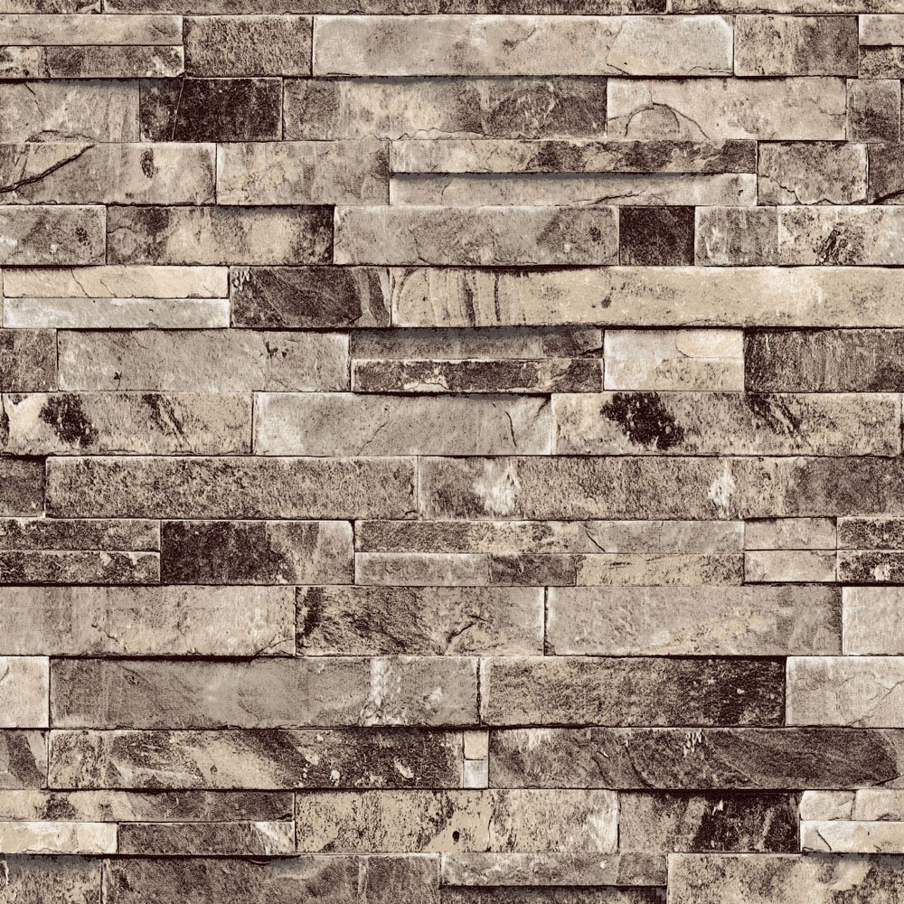 QIHANG Three-dimensional Wallpaper Brick Wall Wallpaper 3D Textured Bricks  Gray Color - - Amazon.com