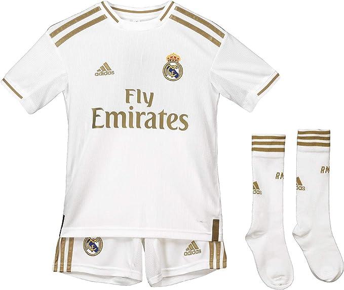 Real Madrid Kit - Personalizable - Primera Equipación Original Real Madrid 2019/2020: Amazon.es: Ropa y accesorios