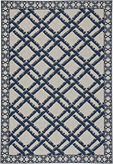 """product image for Capel Rugs Williamsburg Elsinore-Bamboo Trellis Area Rug 7' 10"""" x 11' Midnight Blue"""
