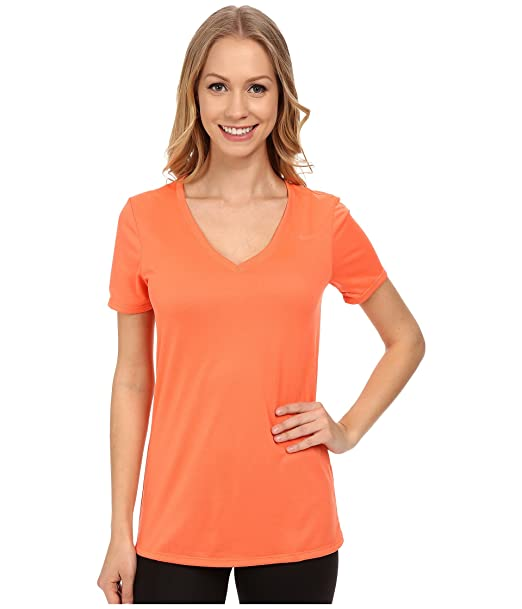 Nike Dri Fit 2.0 Legend Short Sleeve V-Neck Womens T-Shirt Top at ... 32bb96dbfe23