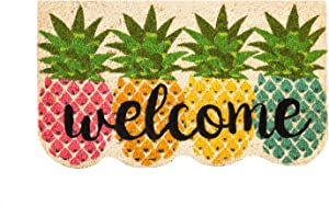 Evergreen Flag Colorful Pineapples Shaped Coir Mat 30 x 0.59 x 18 Inches
