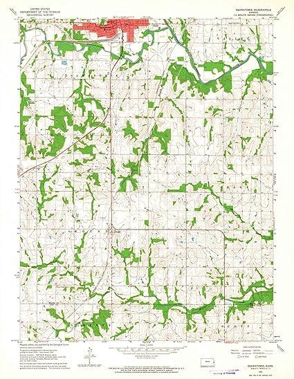 Amazon Com Kansas Maps 1963 Osawatomie Ks Usgs Historical