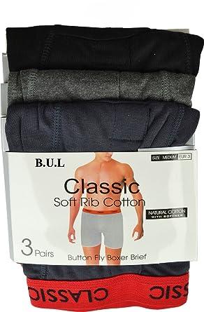 bc2d1cb84bd6b4 6 Mens Classic Soft Rib Cotton Boxer Shorts Red Band Pants Underwear S to  XL: Amazon.co.uk: Clothing
