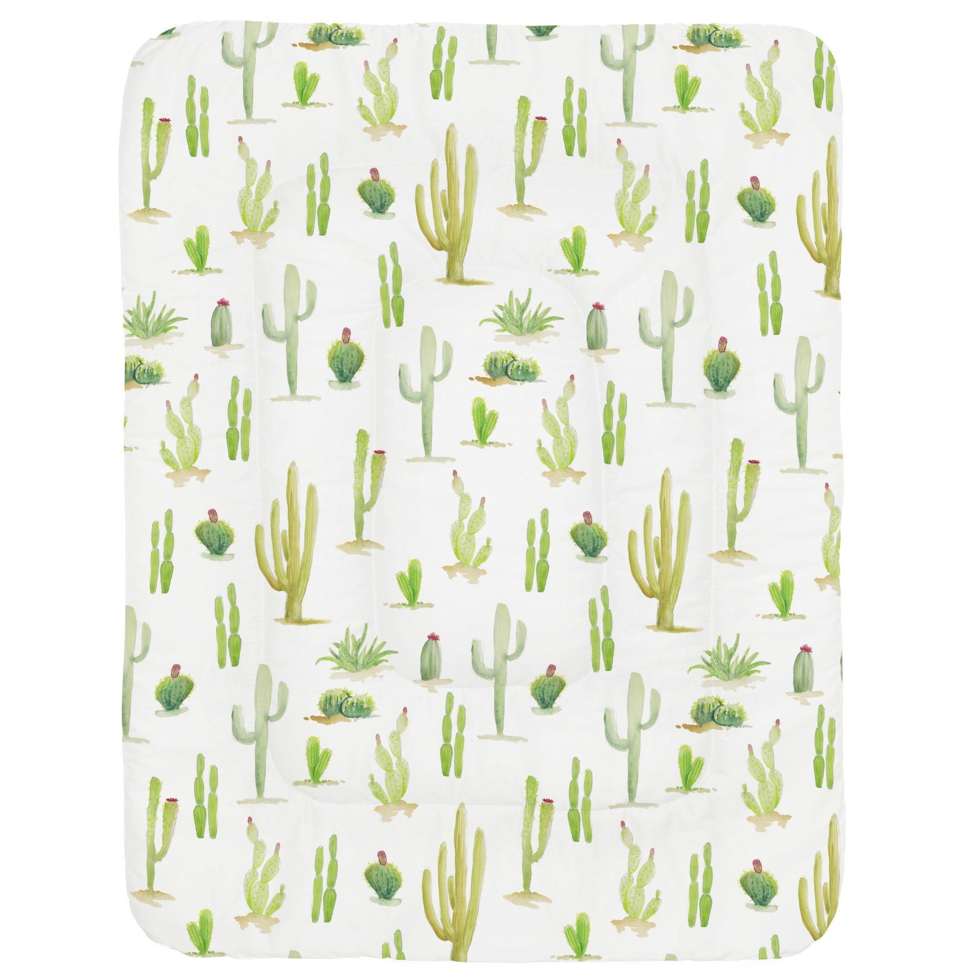 Carousel Designs Watercolor Cactus Crib Comforter