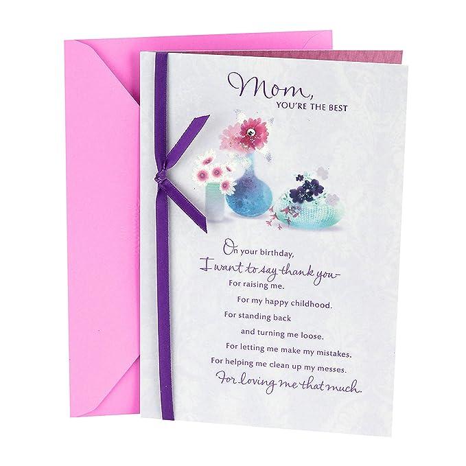 How do you make a birthday card for mom