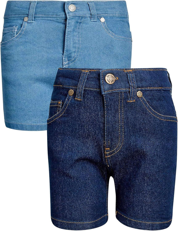 2 Pack Real Love Girls Stretch Denim Shorts