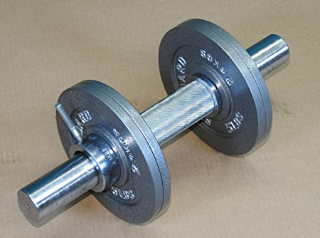 TDS Olympic Dumbell Bar with 1-7 8 Dia knurled Handle. Specially Designed for Strong Man and People with Big Hands