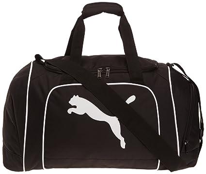 Puma Team CAT - Bolsa de gimnasia, Color Negro, Talla M (47 x 31 x 29 cm)