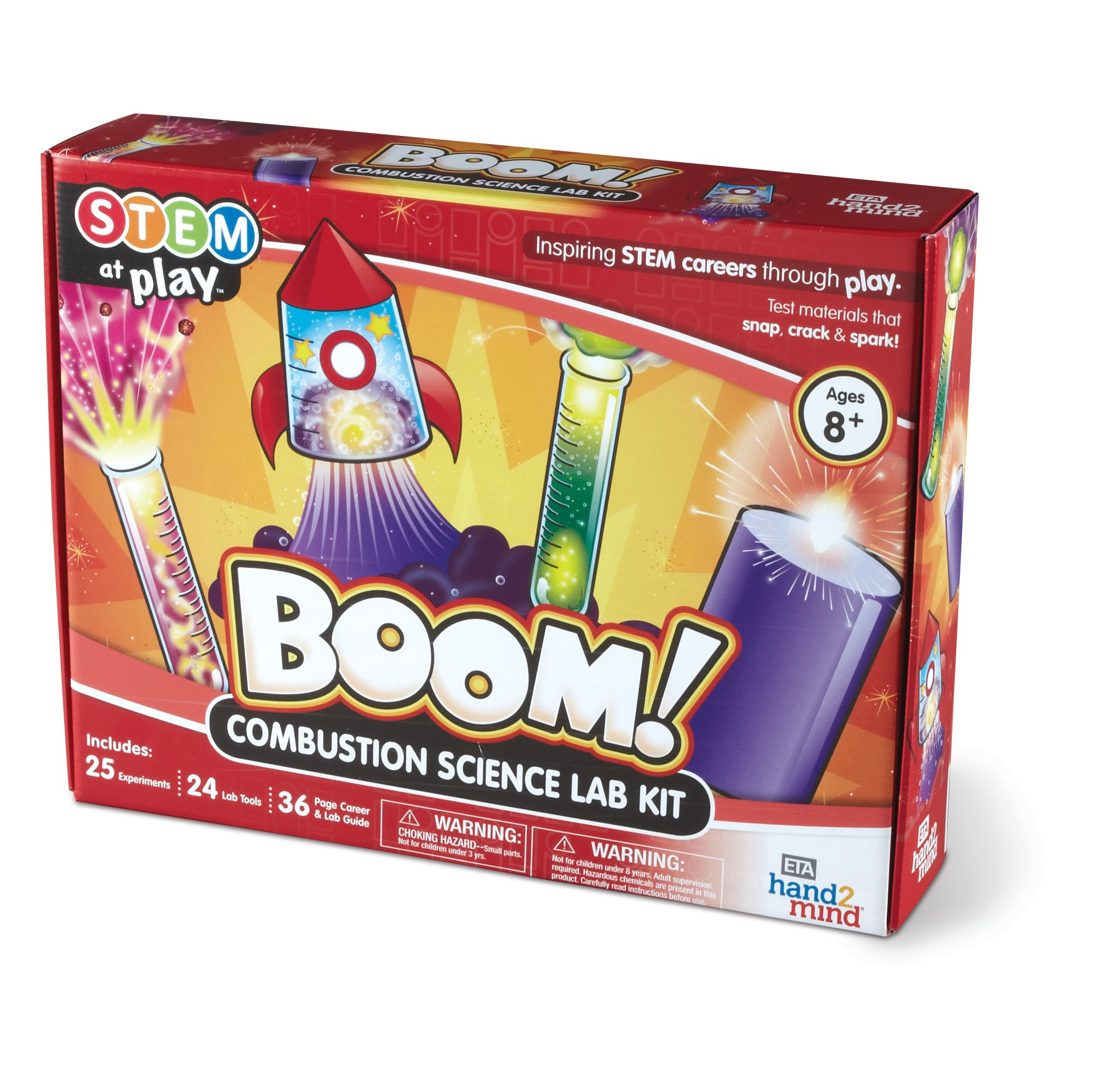 BOOM! Kids Chemistry Science Kit, 25 STEM Experiments & Activities, Make Your Own Rockets, Explosions, & Colorful Liquids | Gift for Children & Teens | Educational Toy  STEM Authenticated
