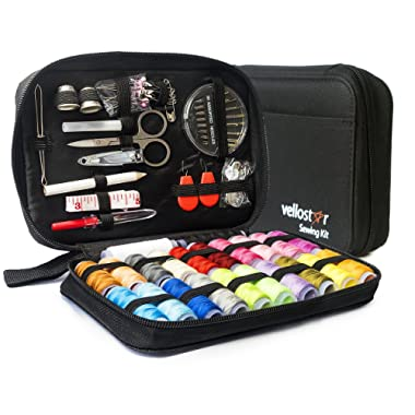 Sewing KIT, Premium Set has Over 100 Supplies & 24-Color Threads, a Smart Solution for Emergency Clothing Repairs   Mini Mending Kit with Accessories, for Travel & Easy to Use for Adults & Beginners
