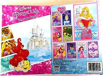 Amazon.com : Disney Princess 32 Valentines (1 Box) Girls Classroom