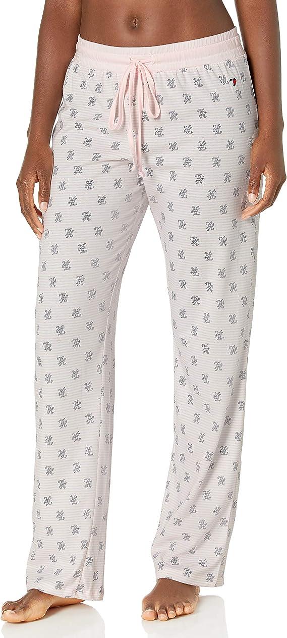 Tommy Hilfiger Womens Womens Logo Jogger Sweatpant Lounge Pant Bottom Pajama Pj Pajama Bottom