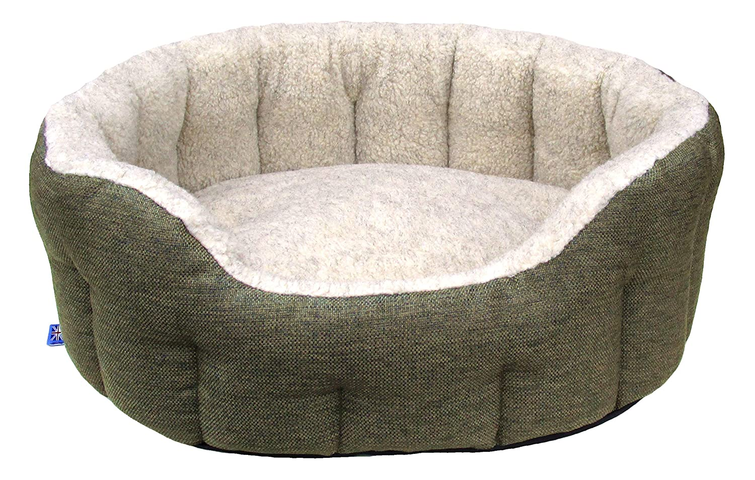 Image result for Tweed Basket Weave With Oatmeal Fleece Softee Dog Bed