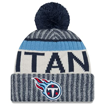 647119ce7b2 Amazon.com   New Era Tennessee Titans NFL Sideline On Field 2017 Sport Knit  Beanie Beany   Sports   Outdoors