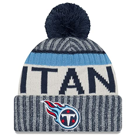 25a0bf8f2cb Amazon.com   New Era Tennessee Titans NFL Sideline On Field 2017 Sport Knit  Beanie Beany   Sports   Outdoors