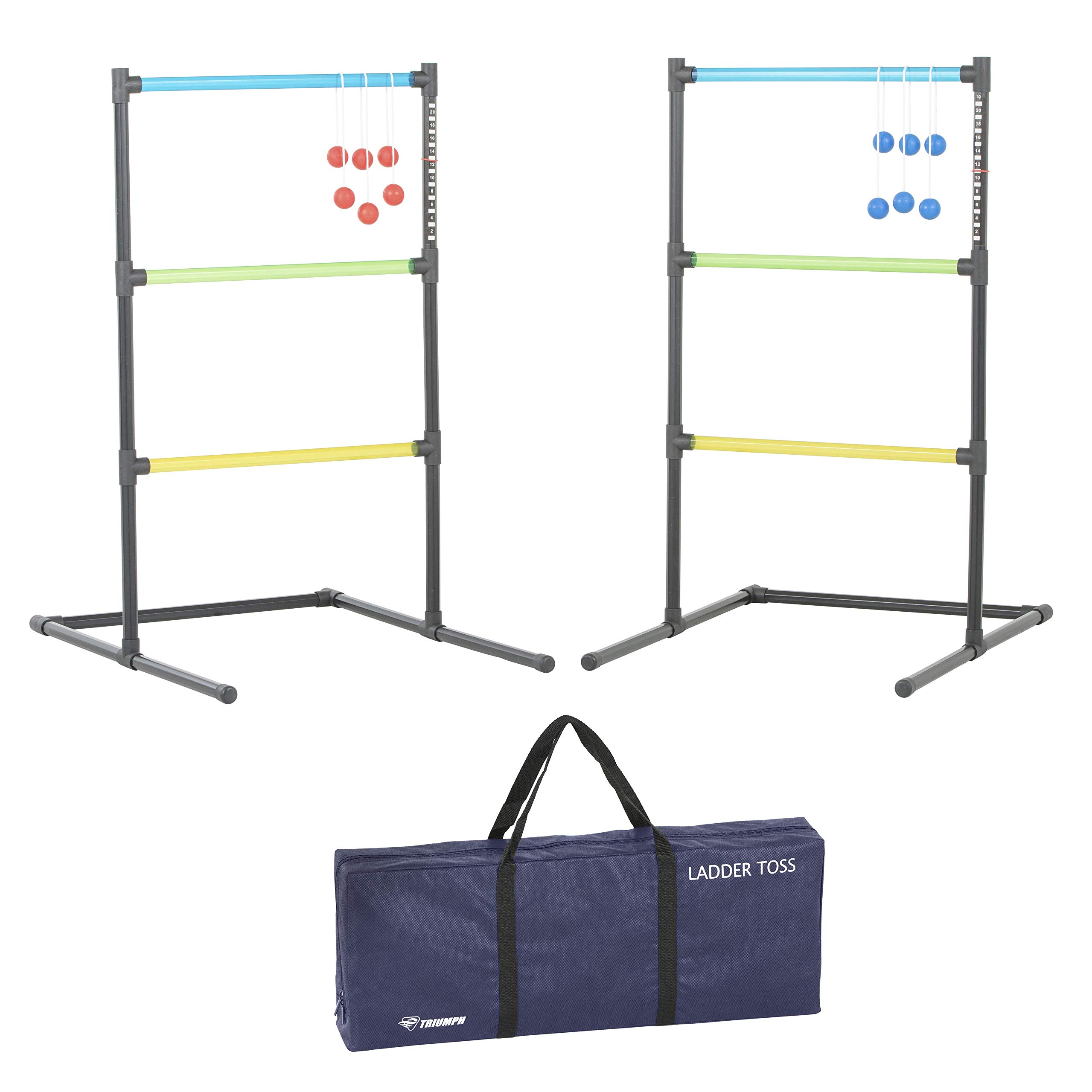 Triumph Ladder Toss Outdoor Set Requires No Tools to Assemble and Includes Six Soft Ball Bolas and Carry Bag