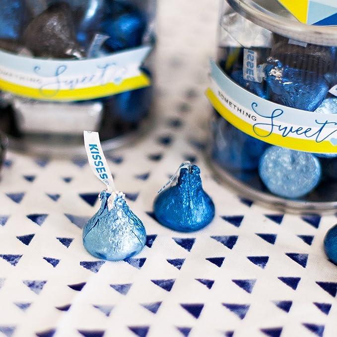 KISSES Chocolates Sin Gluten Chocolate con leche sš®lido envuelto en papel azul claro, 66,7 onzas a granel bolsa: Amazon.es: Alimentación y bebidas