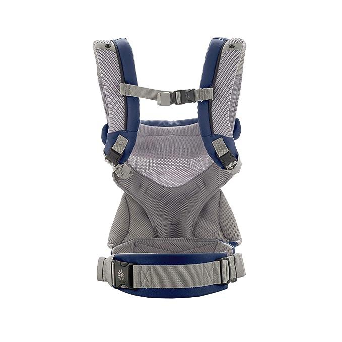 Ergobaby - Mochila portabebé 360 Cool Air - azul marino, Ergonómico y fácil de usar. Transpirable
