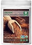 Premium Quality Organic Ceylon Cinnamon Powder (4 Oz) by Naturevibe Botanicals, Raw, Gluten-Free & Non-GMO (4 ounces)