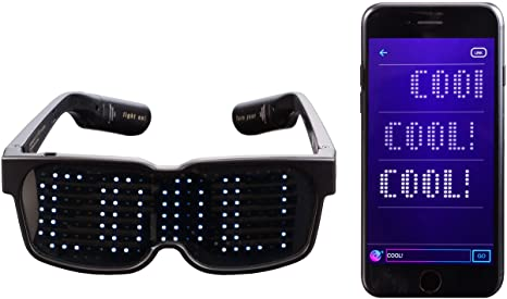 Glasses LED Smart Bluetooth Connect Glasses Full Color LED Display APP with
