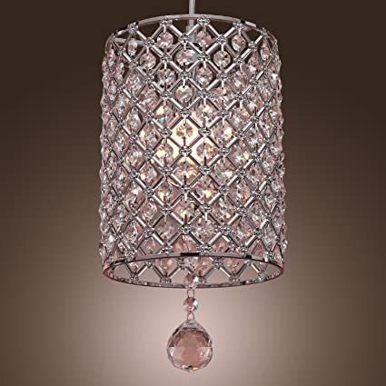 7717f8a27a3 LightInTheBox Contemporary Crystal Drop Pendant Light in Cylinder Style