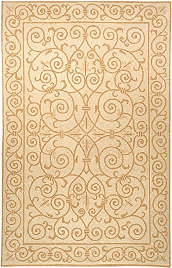 Safavieh Transitional Chelsea Wool Pile Area Rug Ivory/Gold/5' 9''L x 3' 9''W/Small Rectangle