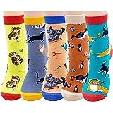 Jeasona Women's Fun Socks Cute Dog Animals Funny Funky Novelty Cotton Gifts