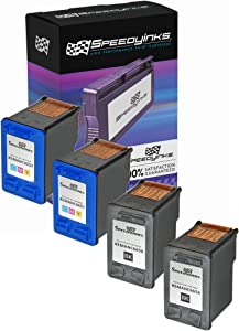 Speedy Inks Remanufactured Ink Cartridge Replacement for HP 56 & HP 57 (2 Black and 2 Color, 4-Pack)