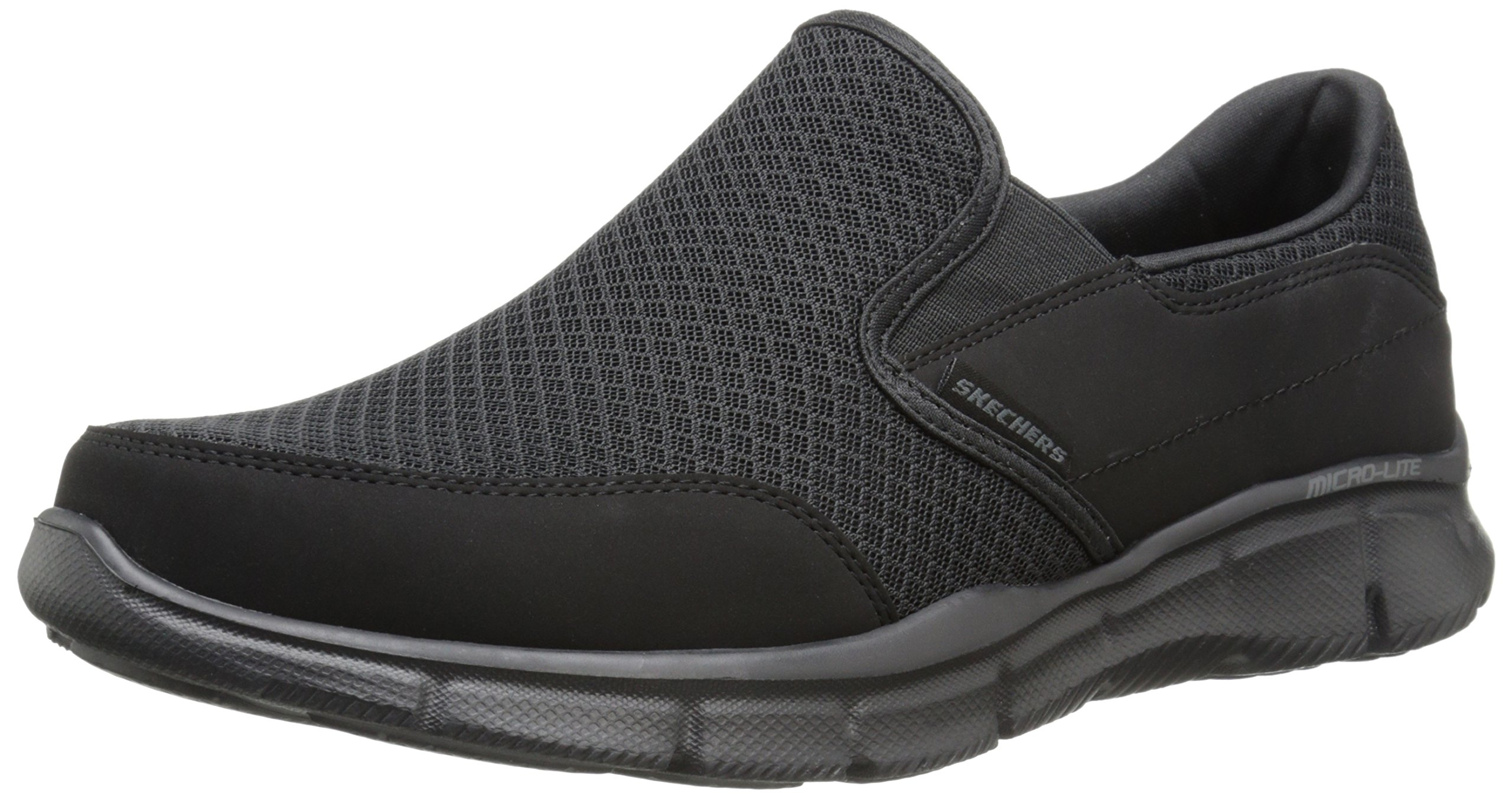 Skechers Men's Equalizer Persistent Slip-On Sneaker, Black, 10.5 XW US