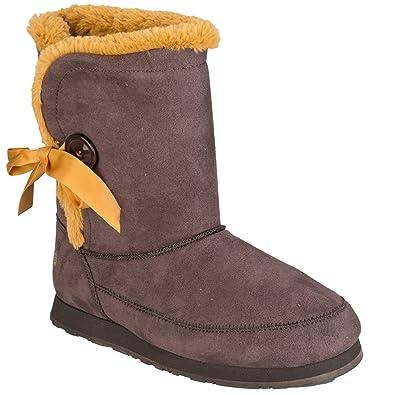 307b4b182080 adidas Womens NEO Womens SE Snowfall Boots in Brown - UK 8.5  Amazon ...