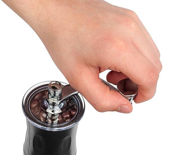 Amazon.com: IdylcHomes Kona Coffee Grinder Delgado ~ Mejor cónico Burr Mini Mill con manual sin esfuerzo Crank Diseño y Profesional de Grado rebabas de ...