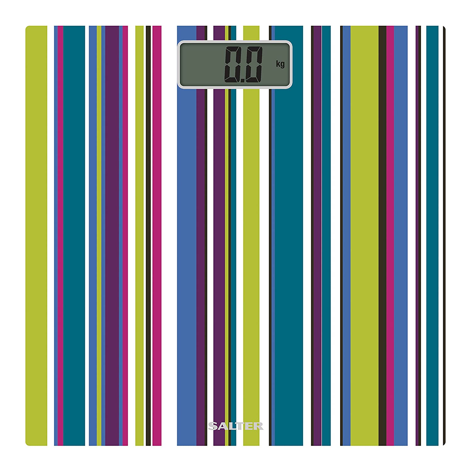 Salter Electronic Striped Bathroom Scales