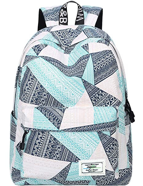 88a147cfa Backpack for Teens, Fashion Geometric Pattern Laptop Backpack College Bags  Women Shoulder Bag Daypack Bookbags