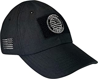 product image for Assault Forward Tactical Ripstop Hat with Embroidered American Flag Black