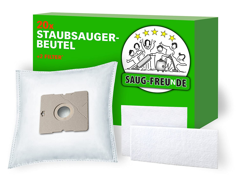 2 Filter geeignet für AEG Smart 301 SAUG-FREUnDE 20 Staubsaugerbeutel