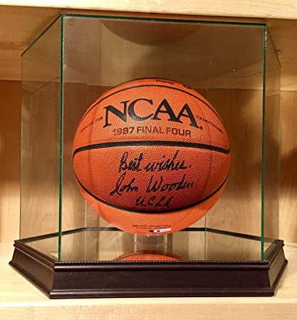 3a50e3932 John Wooden Signed Official 1997 NCAA Final Four Game Basketball UCLA Bruins  BAS - Beckett Authentication