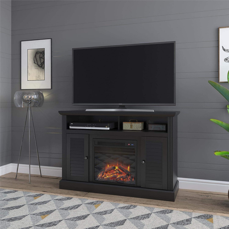 Ameriwood Home 8750872COM Noah Bay Chimenea de 48 pulgadas, color negro soporte de TV,: Amazon.es: Juguetes y juegos