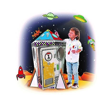 Amazon.com: My Rocket Ship Cardboard Playhouse - Large Corrugated ...