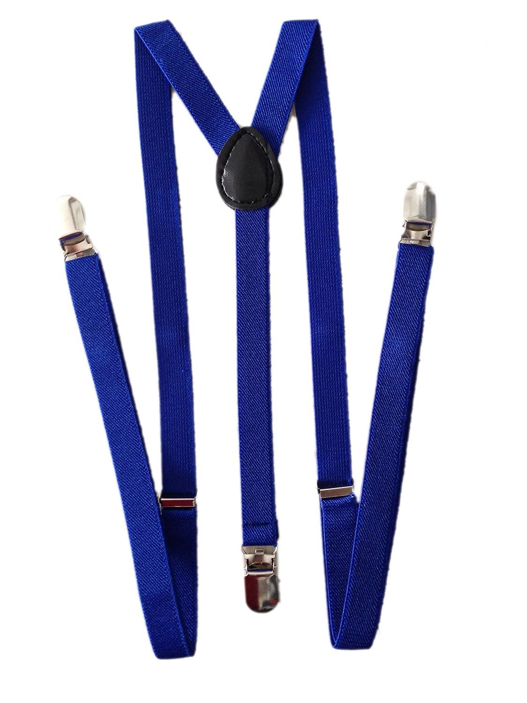JTC Child Kid Adjustable Elastic Suspenders Fancy Dress Clip on Braces Royalblue